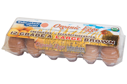 Organic Large Brown Carton (Plastic)